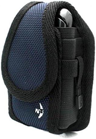 Blue Nite-IZE Rugged Cargo Side Case Cover Belt Clip Holster for Verizon Kyocera DuraXV - Verizon LG Chocolate 3 VX-8560 - Verizon LG Chocolate Touch VX8575