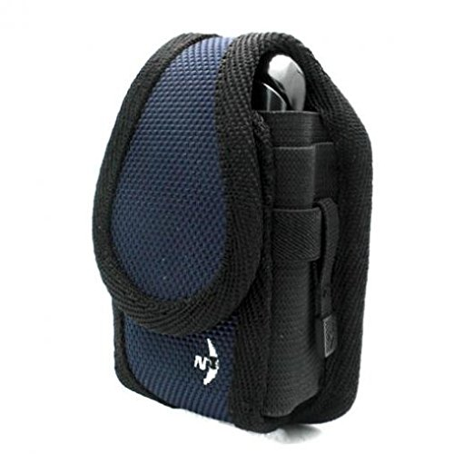 Blue Nite-Ize Rugged Cargo Side Case Cover Belt Clip Holster for Boost Mobile Sanyo Mirro SCP-3810 - Consumer Cellular Doro PhoneEasy 626 - Cricket HTC Desire C