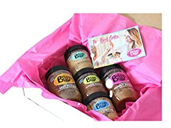 Betsy's Best Nut Butter Gift Set - Cinnamon Almond, Toasted Coconut Cashew, Cashew Cardamom, Cinnamon Peanut and Cinnamon Seed Butters (Sampler, 5 Pack)