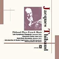 Jacques Thibaud (vl) French music by Jacques Thibaud