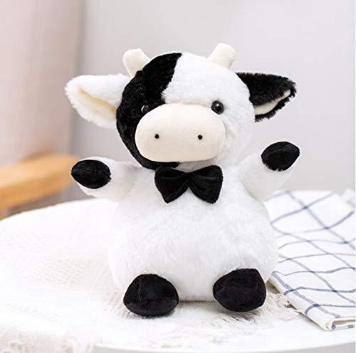 WPQL Lindos Juguetes de Peluche, muñecos Blandos de Vaca de Caballero, muñecos de Animales de Dibujos Animados, para niños, niñas, cumpleaños,, 23 cm