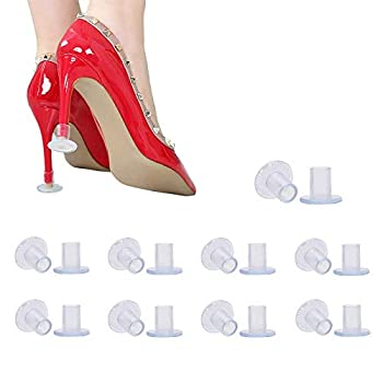 9 Pairs Clear High Heel Protectors Heel Stoppers for Wedding Mates Bridesmaid Small/Middle/Large