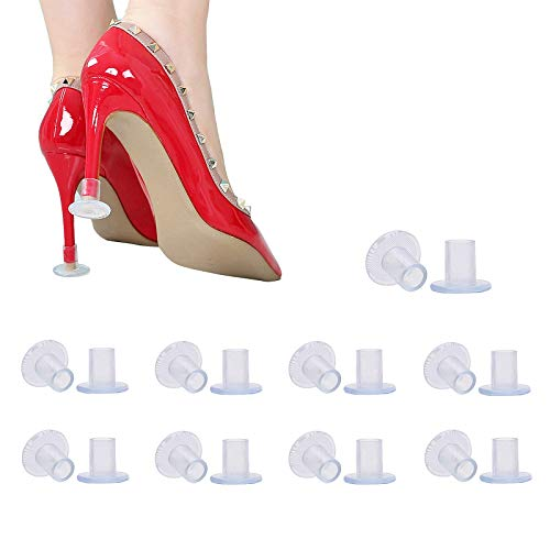 9 Pairs Clear High Heel Protectors Heel Stoppers for Wedding Mates Bridesmaid(Small/Middle/Large)