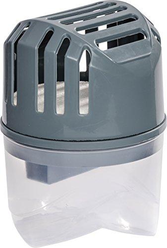 WENKO 50100100 Feuchtigkeitskiller, Luftentfeuchter, 250 g Fassungsvermögen: 0,535 l, 10 x 16 x 10 cm, grau