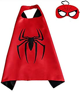 Double sided Kids or adults mini Spider-Man Spiderman comic superhero costume with mask and cape