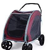qiuqiu Cochecito para Mascotas Cubierta para Lluvia Carro para Perros Cubierta para Lluvia Cochecito De Bebé Impermeable Parabrisas Cubierta para Lluvia
