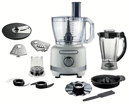 OHMEX OHM-RBT-3618 Küchenmaschine, multifunktional, 1000 W, Kapazität 3 l, 2 Geschwindigkeitsstufen, rutschfeste Füße, Mixer, Zerkleinerer, Zerkleinerer