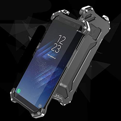 LASTARTS Funda Protectora de Silicona para teléfono con Marco de Metal Defender Funda de Silicona para Samsung S8, S8 Plus Cubierta de teléfono móvil a Prueba de caídas y colisiones para Samsung