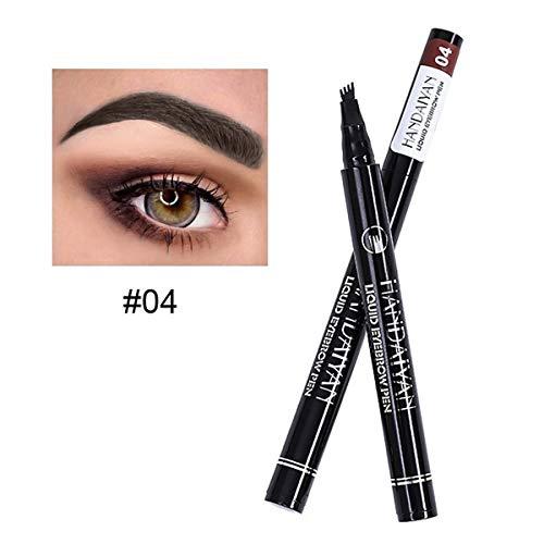 HANDAIYAN Tattoo Eyebrow Pen cuatro puntas larga duración