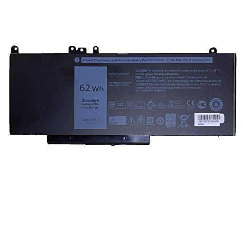SUNNEAR 6MT4T 62Wh Laptop Battery Replacement for Dell Latitude E5270 E5470 E5570 Precision 3510 Series Notebook 7V69Y TXF9M 79VRK 07V69Y 0TXF9M 079VRK