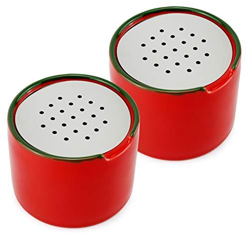 Cornucopia Fruchtfliegenfallen (2er-Pack); leere Keramik-Fliegenfänger mit belüfteten Deckeln; Köder nicht im Lieferumfang enthalten