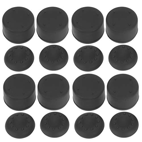 Shipenophy Easy to Clean Joystick Button Non‑Slip 4 Set Cap Cover Joystick Cap Silicone Controller for PS4 PS5 Gamepad