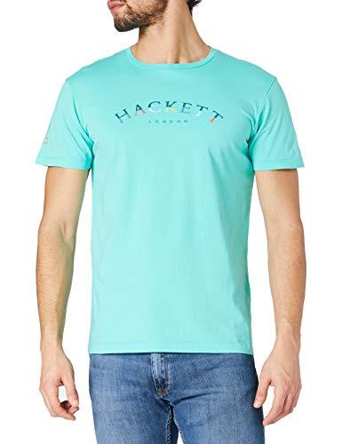 Hackett London Hackett Col Logo tee Camiseta, 5scpool Blue, XL para Hombre