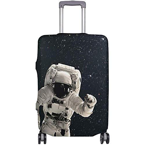 Carneg Astronauta Galaxy In Space Vintage Funda Flexible para Equipaje de Viaje Protector de Maleta Cubiertas de Equipaje con impresión Personalizada Se Adapta a 18/19/20/21 Pulgadas