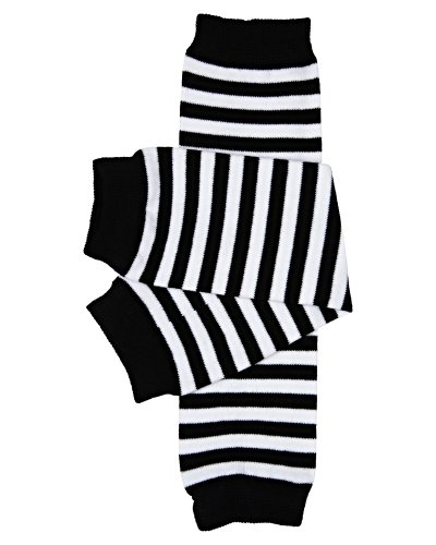 black and white leg warmers