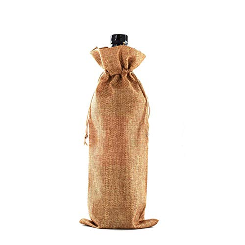 yuanyu Christmas Wine Bottle Bag Champagne Bag Linen Packaging Bag Wedding Party Decoration Wine Bag Table decoration for Christmas dinner (Color : 9, Gift Bag Size : 15x35 cm)