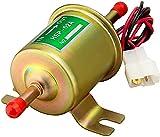 Leadrise 12V Electric Fuel Pump Universal Inline Fuel Pump Universal Low Pressure Gas Diesel Fuel Pump 2.5-4psi HEP-02A