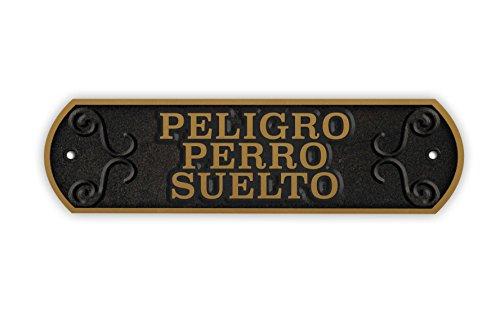 Magneet & Steel 23-7878 horizontale plaat Iron Danger Dog Lose, 24 x 7,2 cm