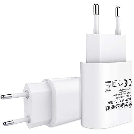 Elinksmart 2 Pack Usb Ladegerät Eu 5v 2a Netzteil Für Elektronik