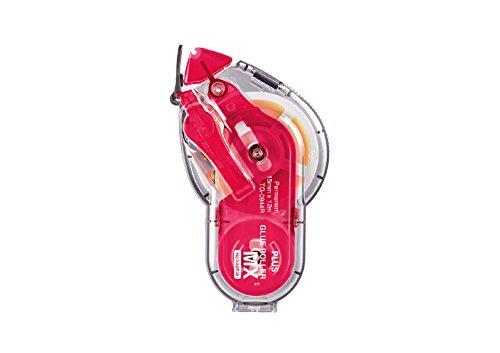 PLUS Japan Adesivo roller MX, permanente e ricaricabile, 15 mm di larghezza, 12 m di lunghezza, rosso