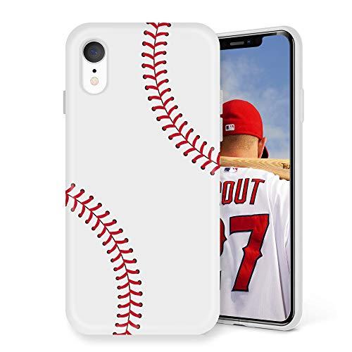 Litech Case for Apple iPhone XR (2018) [Flexfit] Premium Cute Creative Artistic Design (Baseball)