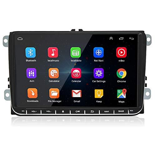 LEXXSON Android 8.1 Autoradio für VW Passat Golf 5 MK 6 Jetta T5 EOS POLO Touran Seat Sharan | 9 Zoll-Touchscreen Autoradio GPS Navi Bluetooth mit CanBus, Unterstützt AM/FM /DAB USB MirrorLink