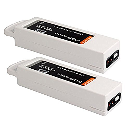 2 Pack 5400mAh 11.1V LiPo Battery Compatible with Yuneec Q500 Series Typhoon Q 500 4K Quadcopter