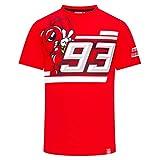 Marc Marquez Camiseta MotoGP para hombre 93 de 2019 con logo rojo Ant 93 100%...