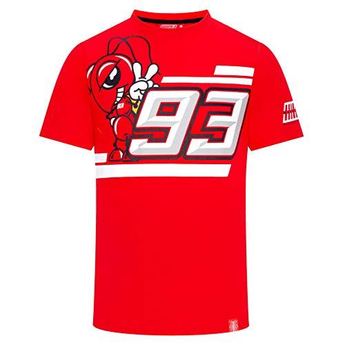 Marc Marquez 2019 MotoGP Herren T-Shirt 93 Red Ant 93 Logo 100% Baumwolle Tee