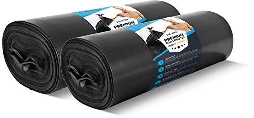 PREMIUM Müllsäcke 240L extra groß 20 Stück 70 µ - Profi Schwerlast XL Mülltüten schwarz Haushalt & Industrie – Abfallsäcke – Stabile Beutel, starker Müllbeutel - in 100 cm x 125 cm LDPE Müllentsorgung