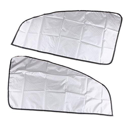 Parasol Coche 1 par Magnético Coche de sol Cortinas de protección Doble laterales para el automóvil Oblique Sombrilla Lateral de la ventana Película Protección de verano Parasol Coche Infantil Lateral