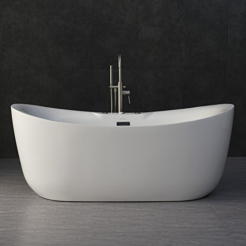 WOODBRIDGE B-0034/BTS1611 71' x 31.5' Water Jetted and Air Bubble Freestanding Bathtub, BTS1611, B-0034 Whirlpool Tub