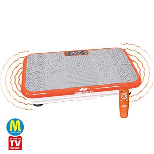 Mediashop VibroShaper – Fitness Vibrationsplatte bringt den Körper in Form – Vibrationstrainer für unterschiedliche Muskelgruppen | Das Original aus dem TV (orange)