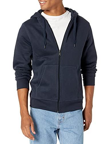 Amazon Essentials Full-Zip Hooded Fleece Sweatshirt Sudadera, Azul (Navy), Medium
