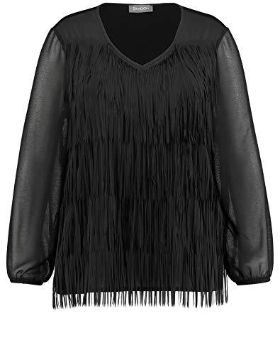 Samoon 371414-26539 Camisa Manga Larga, Negro (Black 1100), Large para Mujer