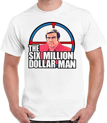 The Six Million Dollar Man Steve Austin 70s Tv Show Retro T Shirt