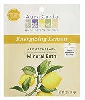 Aromatherapy Mineral Bath Energizing Lemon - 2.5 oz - Case of 6 by Aura Cacia