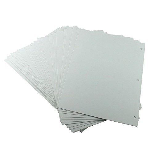 XIUJUAN Scrapbooking-Papier 26 x 18 cm, Weiße Nachfüllseiten für Scrapbook-Album 27,5 x 20,5 cm, 20 Stück (für Butterfly Girl Large), MEHRWEG