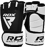 RDX Guantes MMA para Artes Marciales Entrenamiento, Cuero Sparring Guantillas, Bueno para Grapling, Kickboxing, Muay Thai, Saco de Boxeo, Combate Training y Lucha Libre
