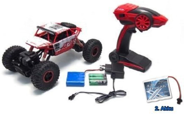Rock Crawler Conqueror Maßstab 1 18 RTR 4WD Rally Car Rot + 2. Akku B01N2W1J20 Kinder mögen | Verwendet in der Haltbarkeit