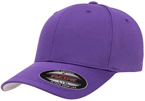 Flexfit Men's Athletic Baseball Fitted Cap, Purple, L/X-Large