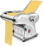 Máquina comercial de fideos de acero inoxidable, máquina automática de pasta eléctrica, grosor ajustable de 0,3 a 4 mm, máquina para hacer espaguetis, cortadora de masa, rodillo de bolas de masa her