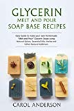 """GLYCERIN MELT AND POUR SOAP BASE RECIPES: Easy Guide to make your own Homemade """"Melt and Pour"""" Glycerin Soaps using Natural Spices, Essential Oils, Herbs and other Natural Additives (English Edition)"""
