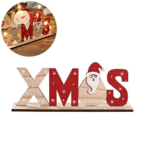 Weihnachtsdeko Santa Claus Schneemann Schneeflocken Brief Dekoration Schriftzug Holz Weihnachtsmann Weihnachtsfeier Dekoration