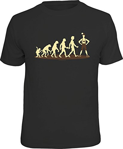Das Geschenk T-Shirt für den echten Bayern - Fan: Bayerische Evolution L, Nr.6667