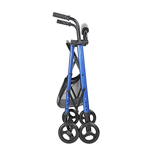 PAP Drive Medical Steel Walker Rollator Vier Wiel Aluminium Reiswiel met Seat Walkers, Blauw, blauw, a
