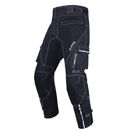 Dirt Bike Motocross Motorcycle pants for men hi Vis armor riding racing dual sports overpants atv mx bmx - Black - WAIST 40'-42' INSEAM 34'