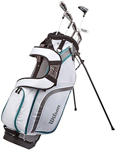 Wilson Pro Staff WGG130003 Demi-Kit de Golf pour Débutants, 6 Clubs avec Sac, Femme (Main Droite)...