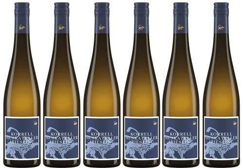 Martin Korrell | 6 Flaschen Riesling und Muskateller | eine fruchtsüße und trotzdem anregend und erfrischende Kombination