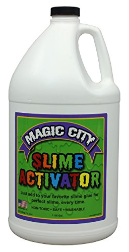 Magic City Slime Activator - Non Toxic, Just Add to Your Favorite Slime Glue for Great Slime Every Time, Made in USA (1 Gallon)
